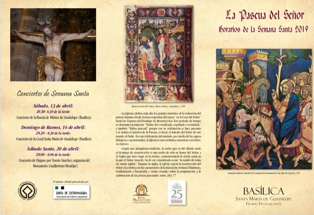 Horarios de la Semana Santa 2019 - Guadalupe (Cáceres) 1