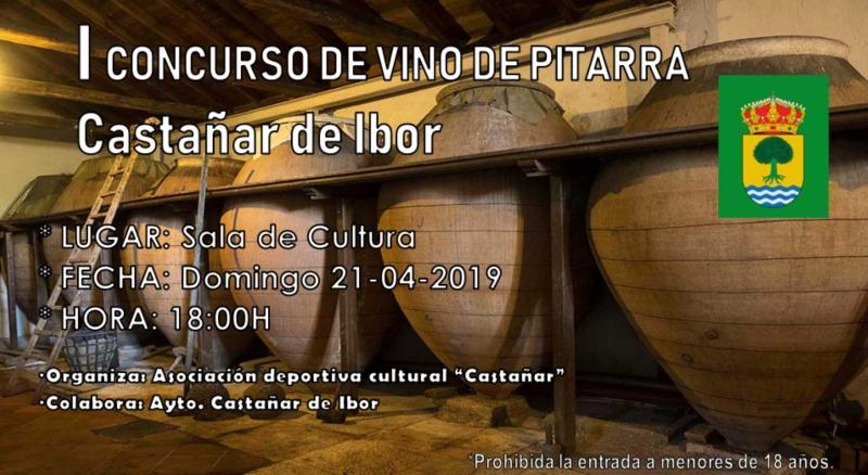 I Concurso de vino de pitarra - Castañar de Ibor (Cáceres)