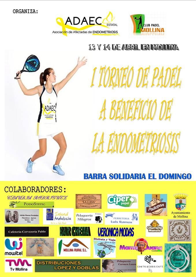 I Torneo de pádel a beneficio de la endometriosis - Mollina (Málaga)