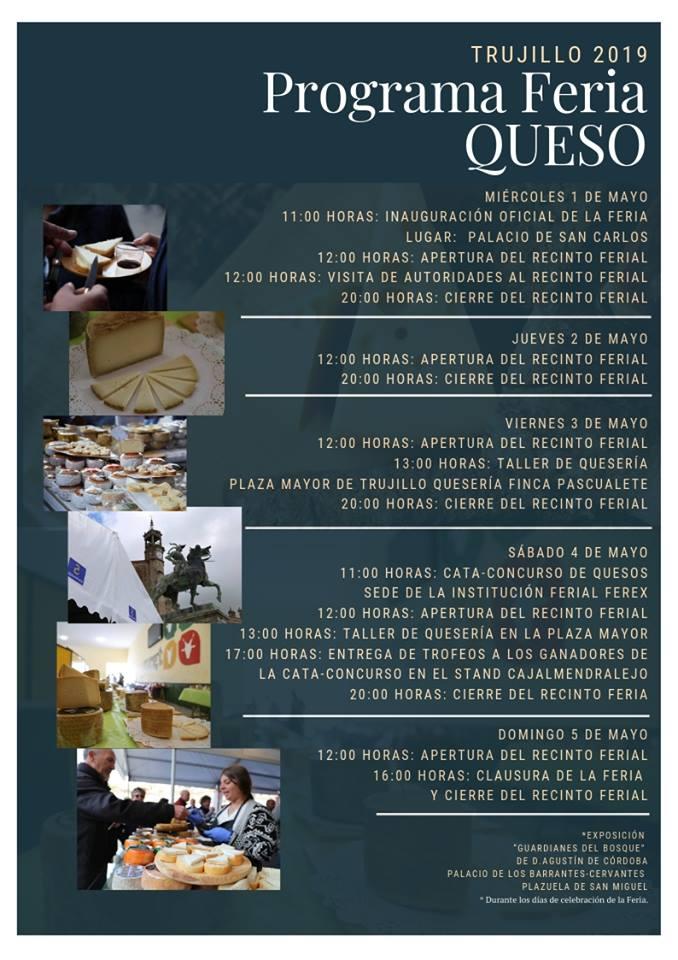 Programa de la feria del queso 2019 - Trujillo (Cáceres)