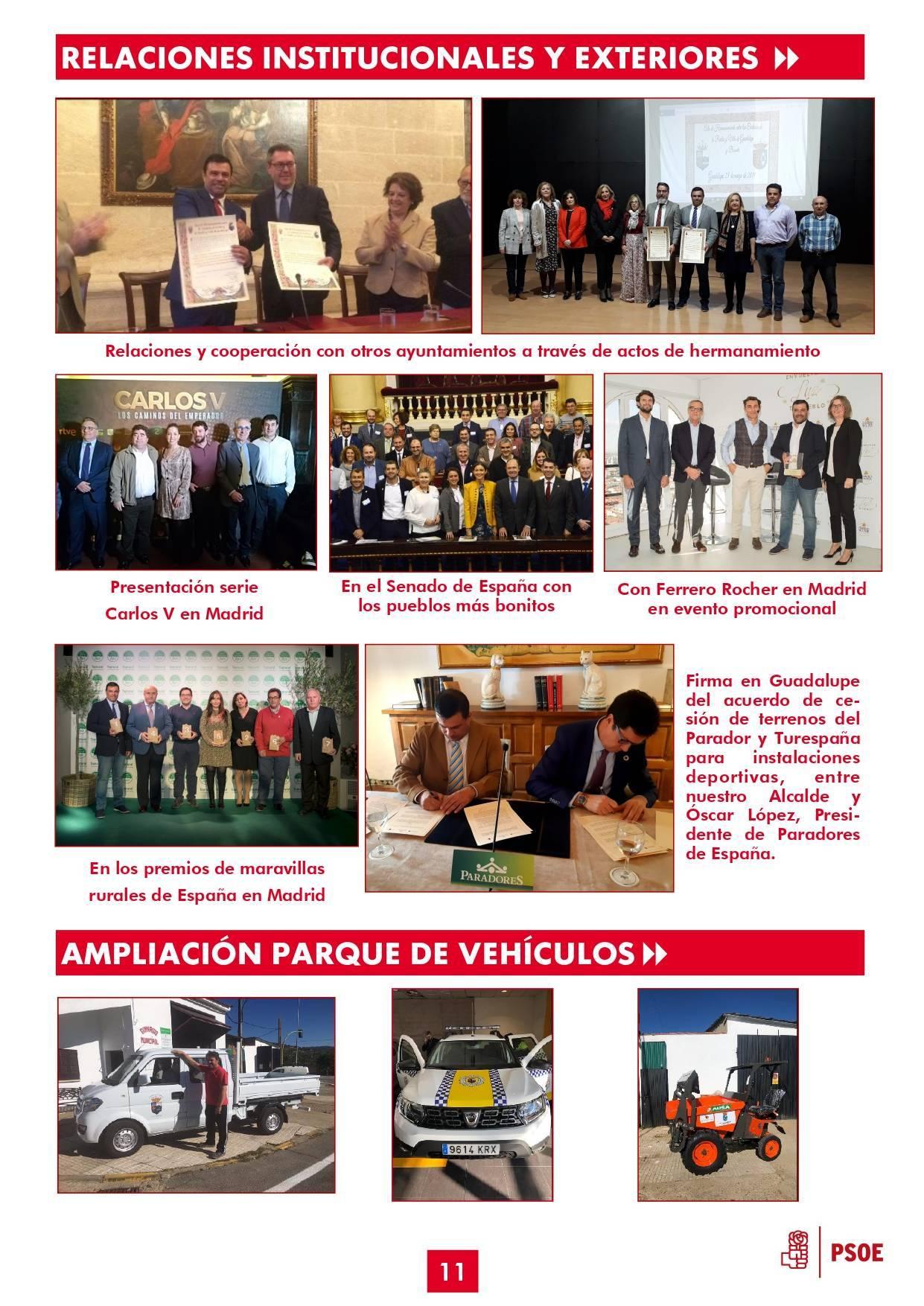 Boletín informativo de gestión municipal 2015-2019 - Guadalupe (Cáceres) 11