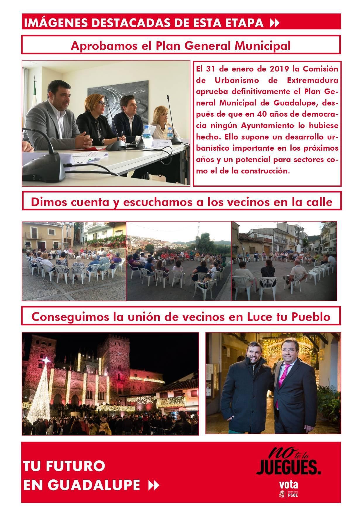 Boletín informativo de gestión municipal 2015-2019 - Guadalupe (Cáceres) 12