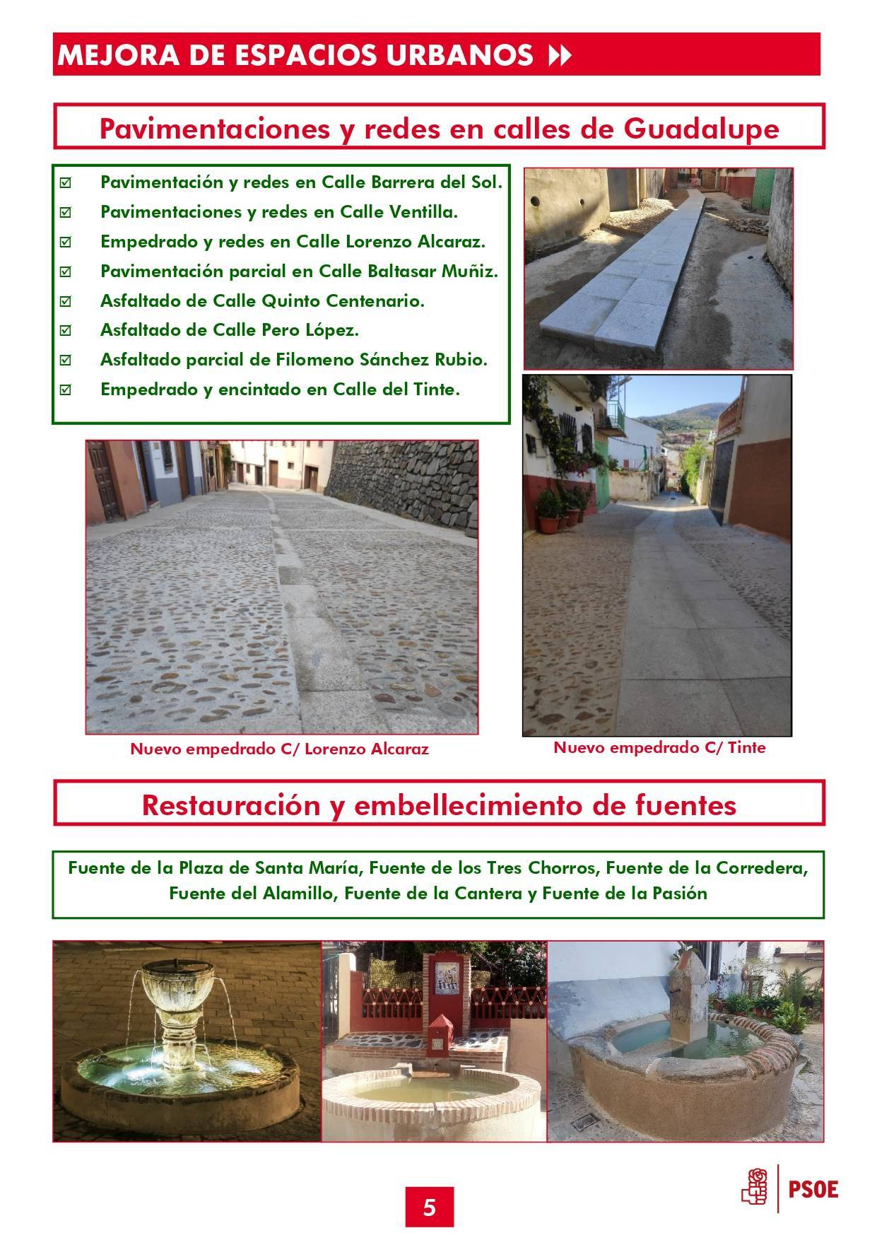 Boletín informativo de gestión municipal 2015-2019 - Guadalupe (Cáceres) 5