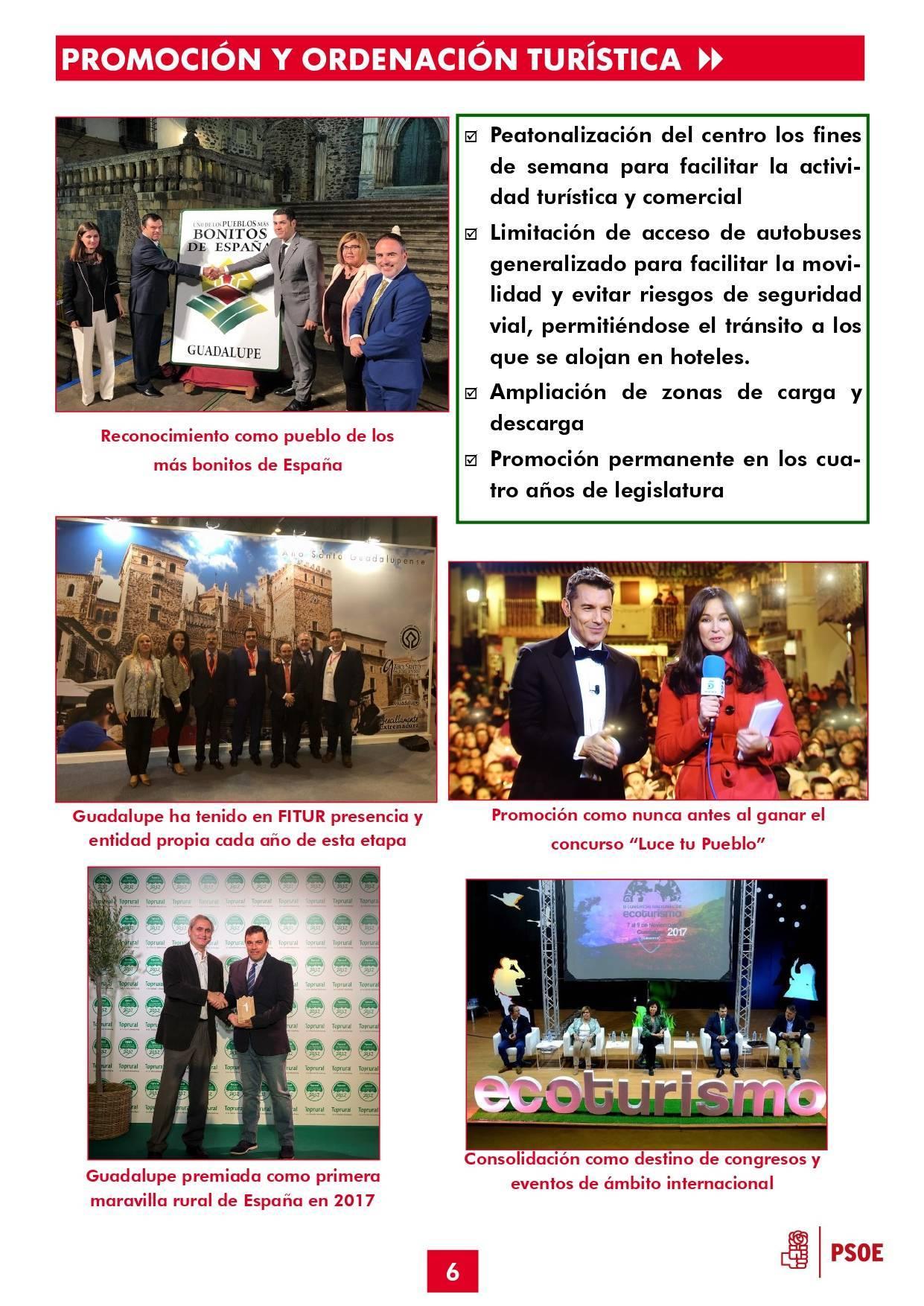 Boletín informativo de gestión municipal 2015-2019 - Guadalupe (Cáceres) 6
