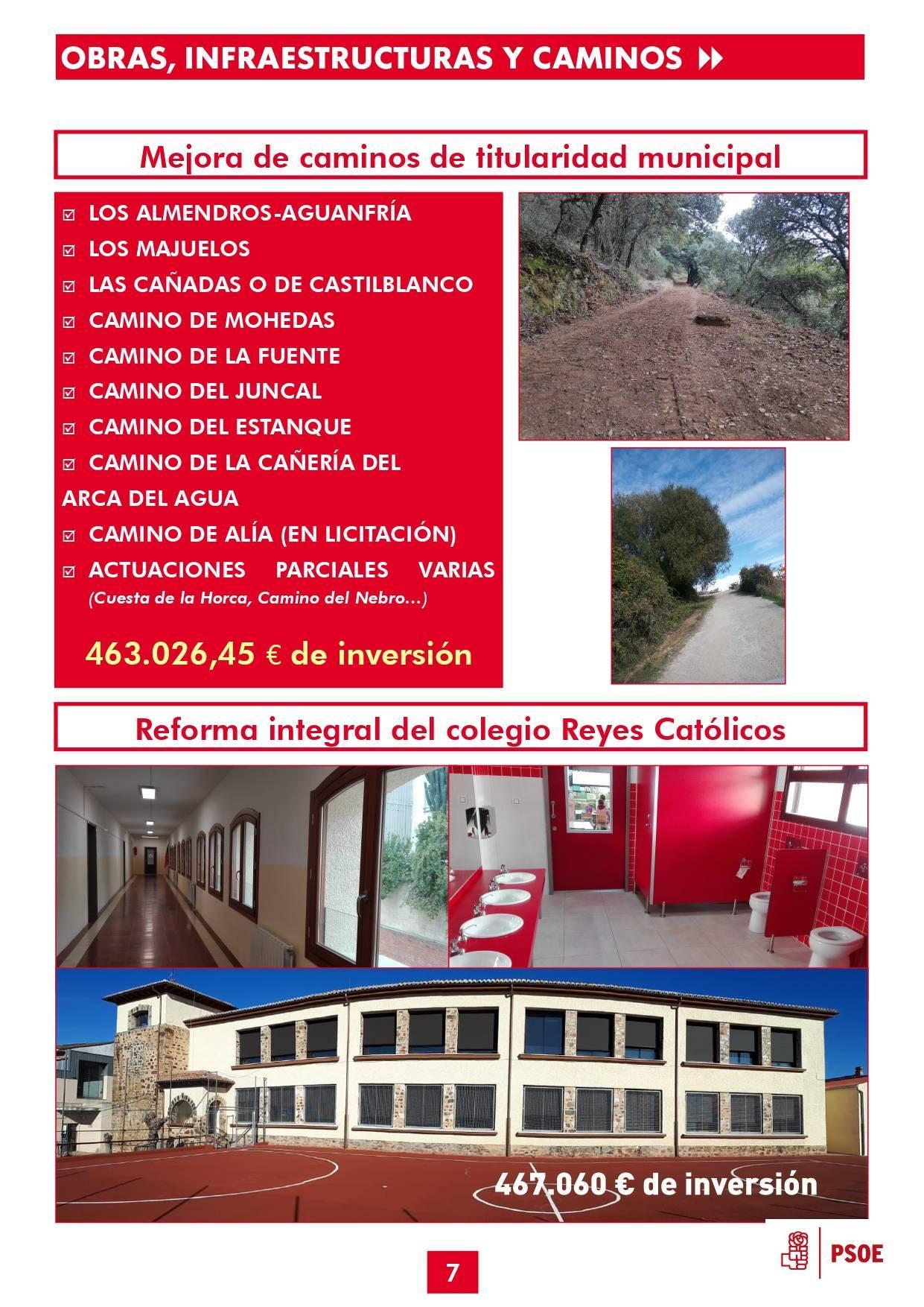 Boletín informativo de gestión municipal 2015-2019 - Guadalupe (Cáceres) 7