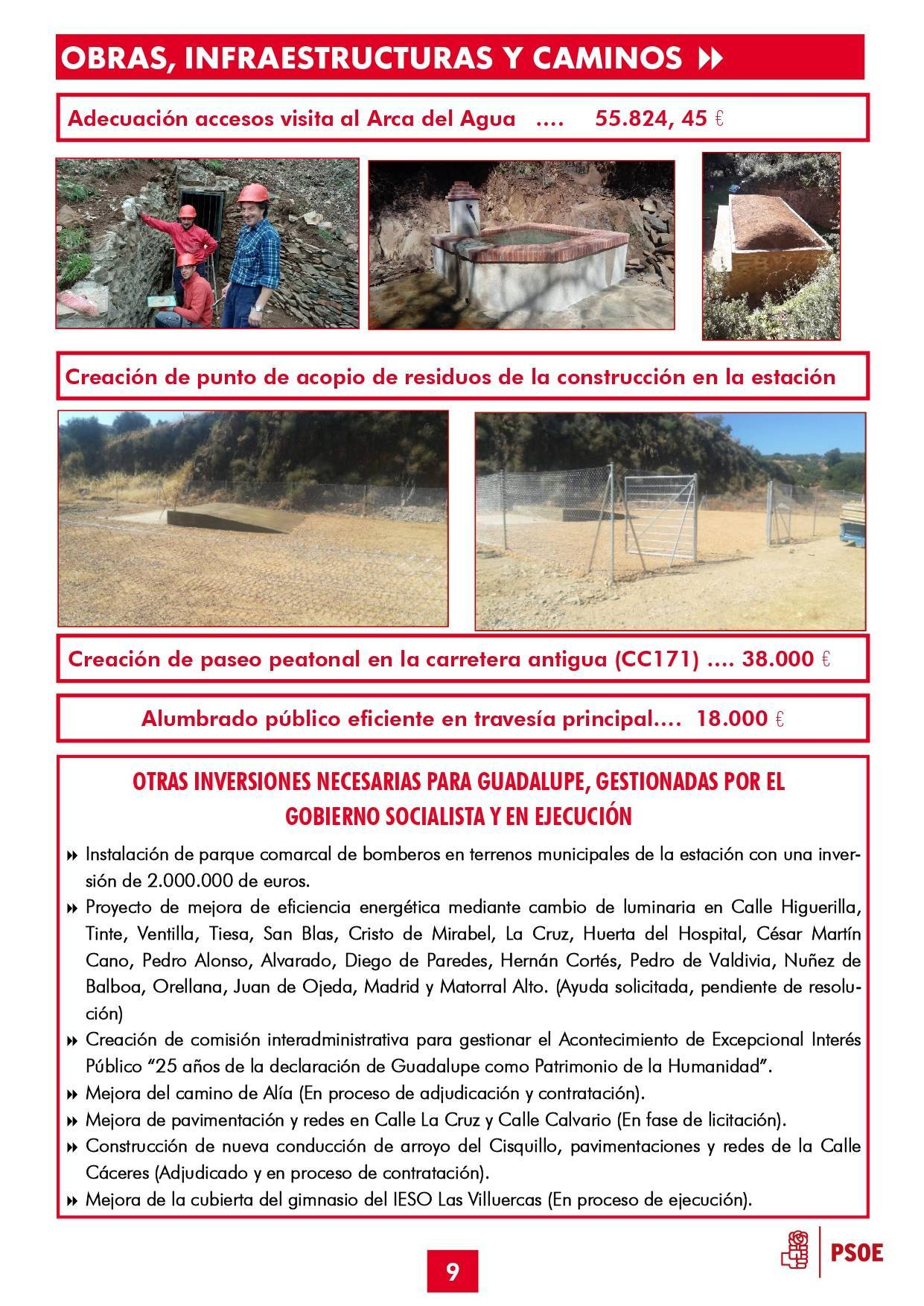 Boletín informativo de gestión municipal 2015-2019 - Guadalupe (Cáceres) 9