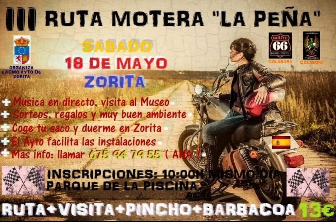 III Ruta motera La Peña - Zorita (Cáceres)
