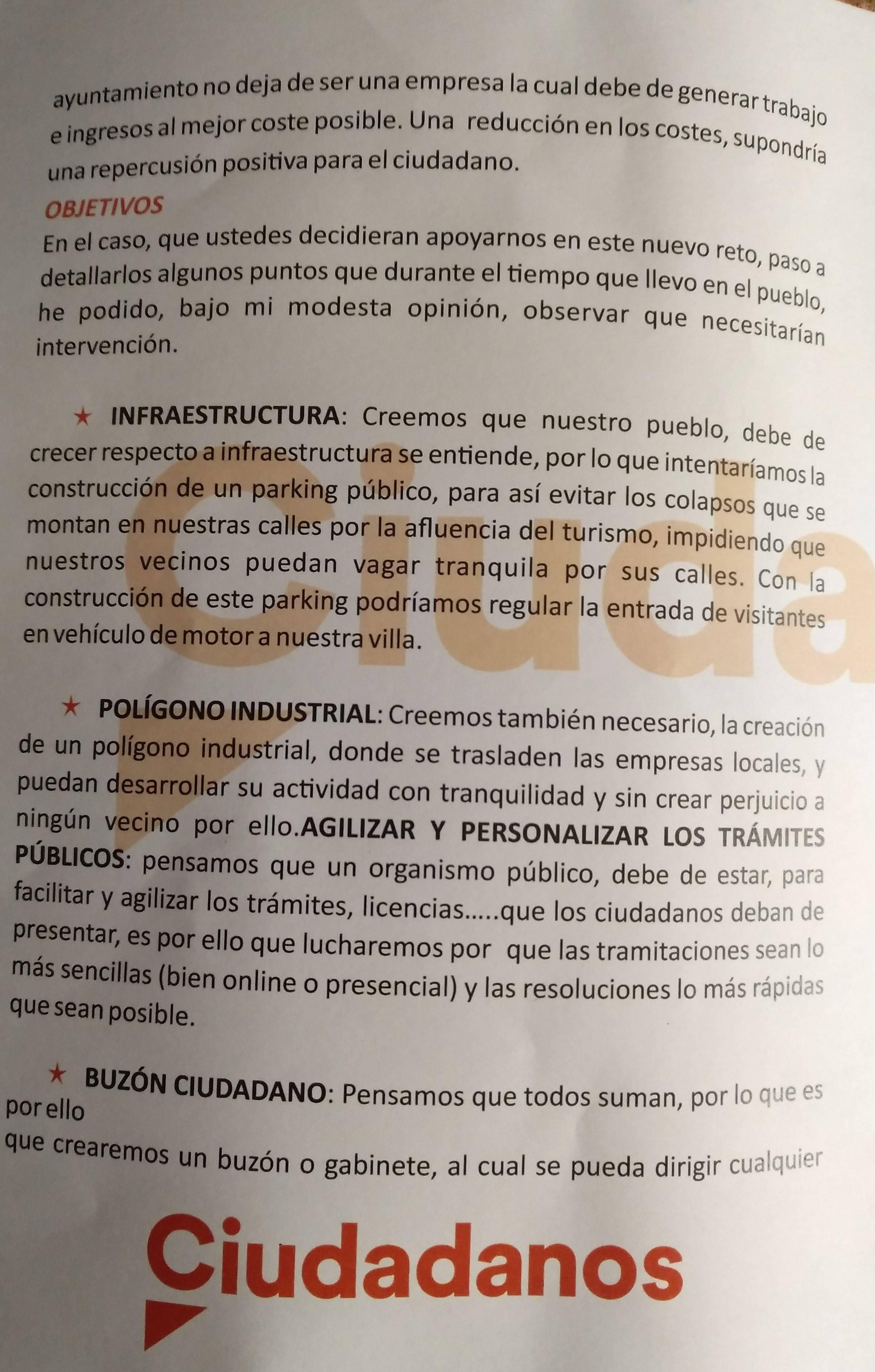 Programa electoral Ciudadanos 2019 - Guadalupe (Cáceres) 2