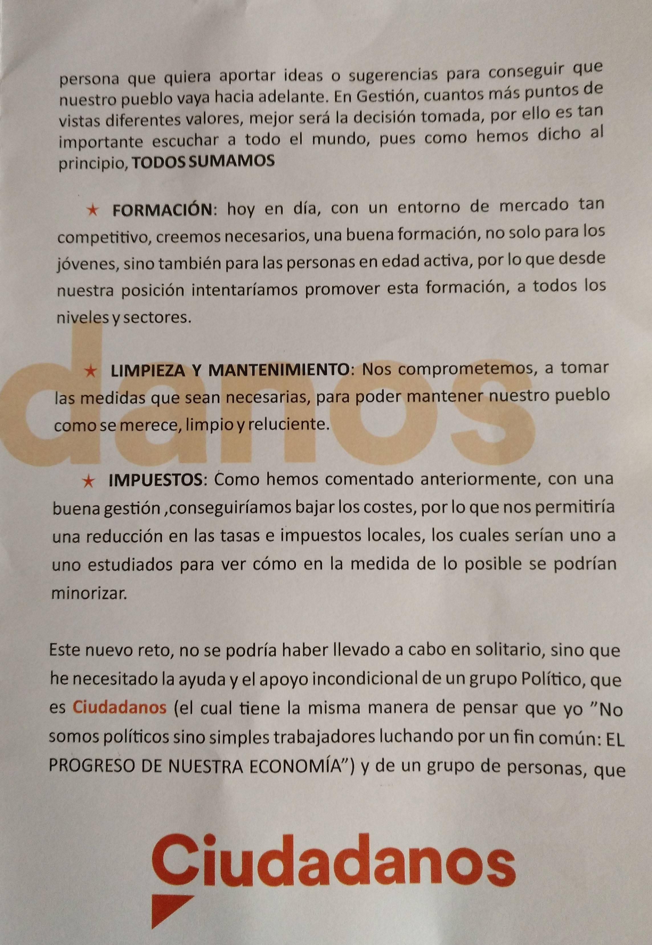 Programa electoral Ciudadanos 2019 - Guadalupe (Cáceres) 3