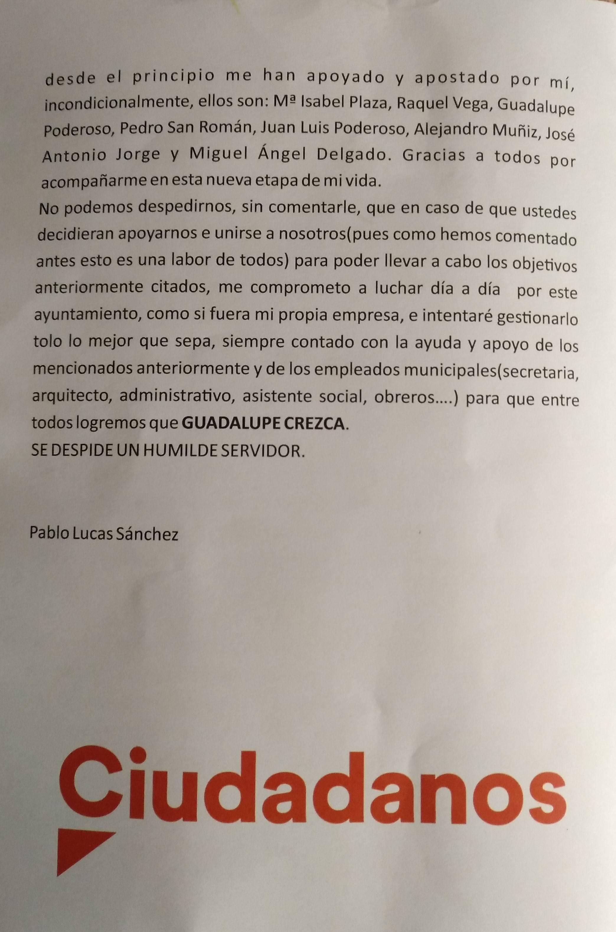 Programa electoral Ciudadanos 2019 - Guadalupe (Cáceres) 4