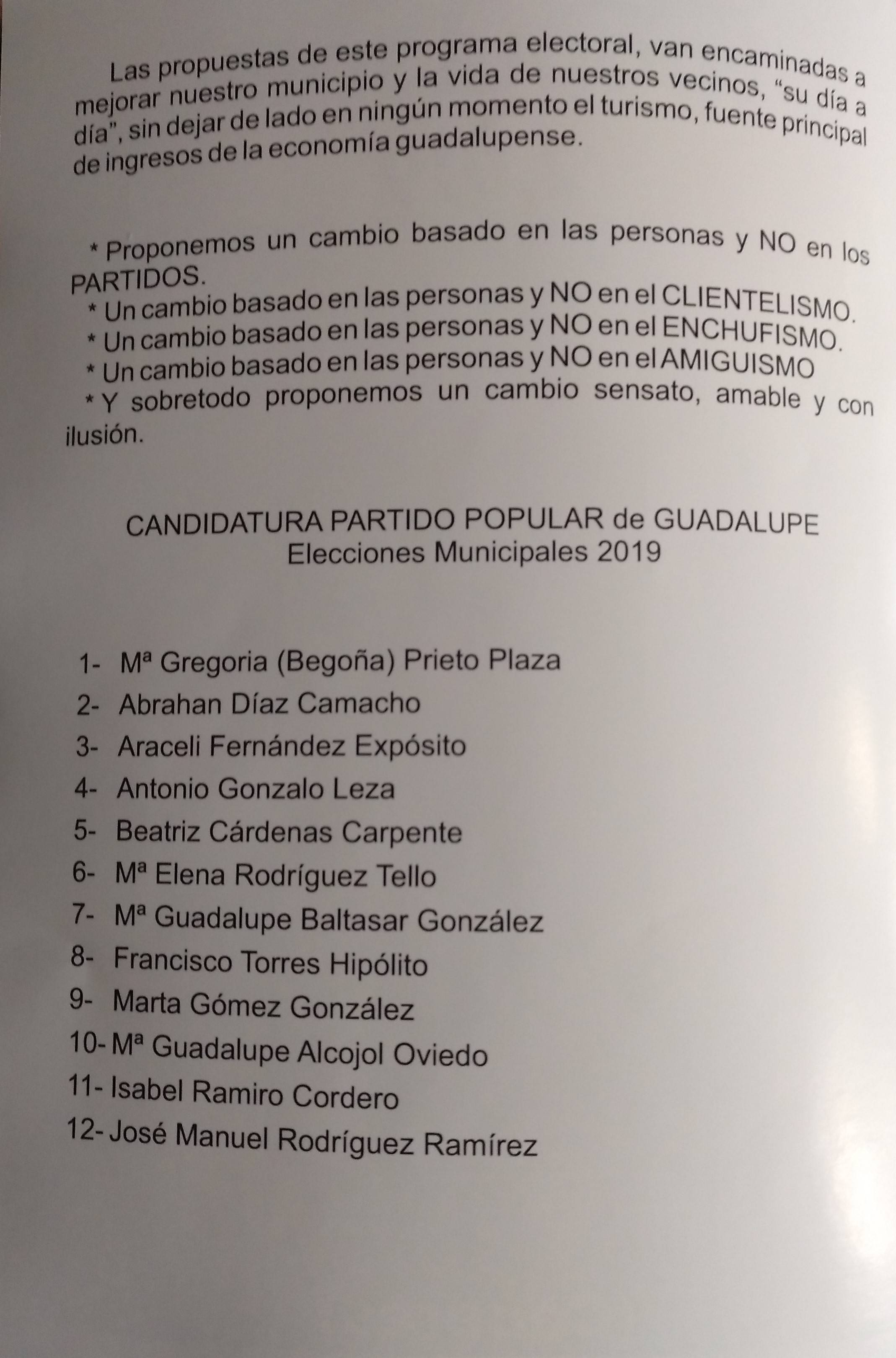Programa electoral PP 2019 - Guadalupe (Cáceres) 2