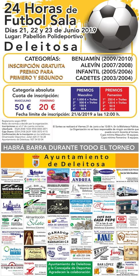 24 Horas de fútbol sala 2019 - Deleitosa (Cáceres)