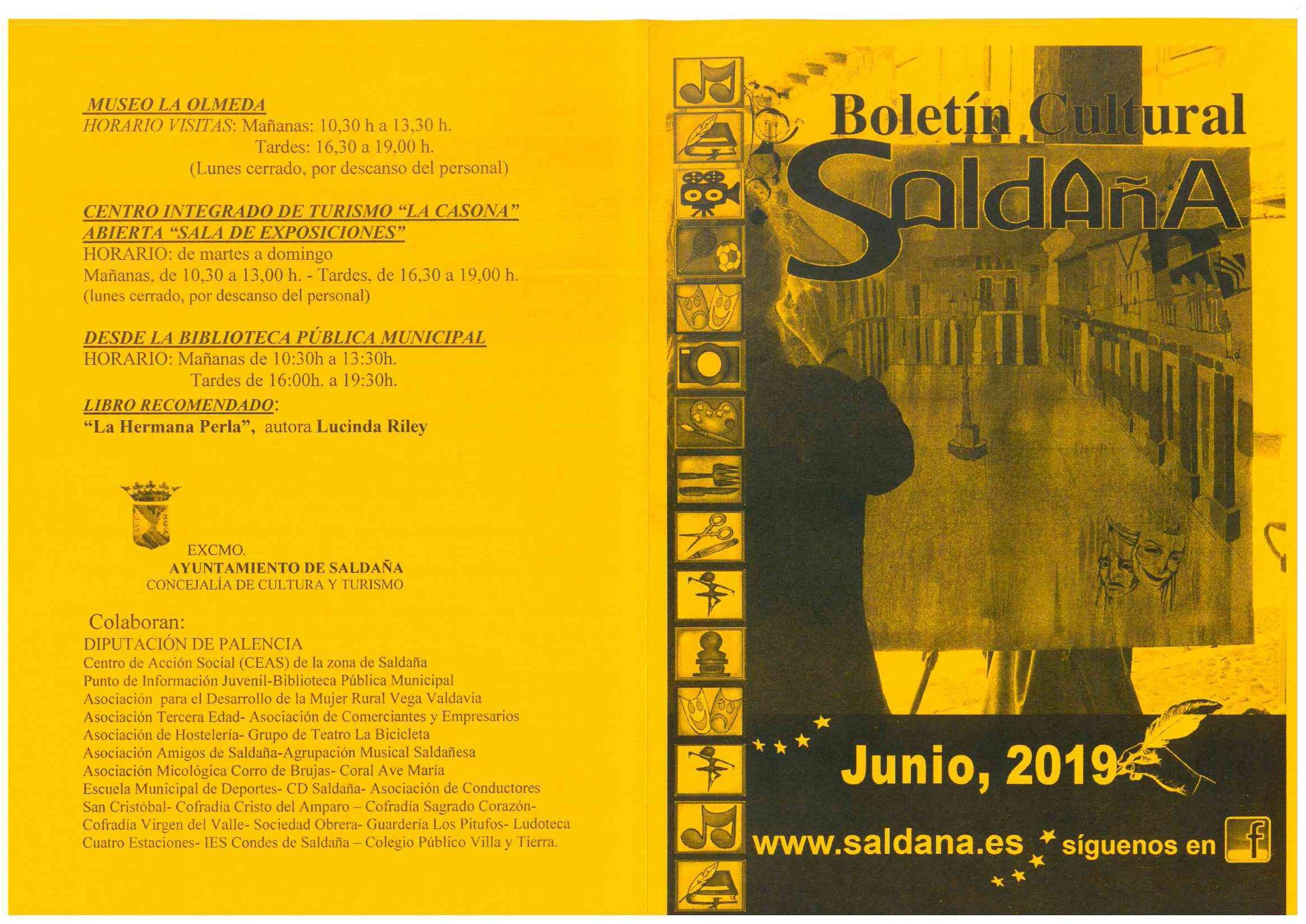 Boletín cultural junio 2019 - Saldaña (Palencia) 1