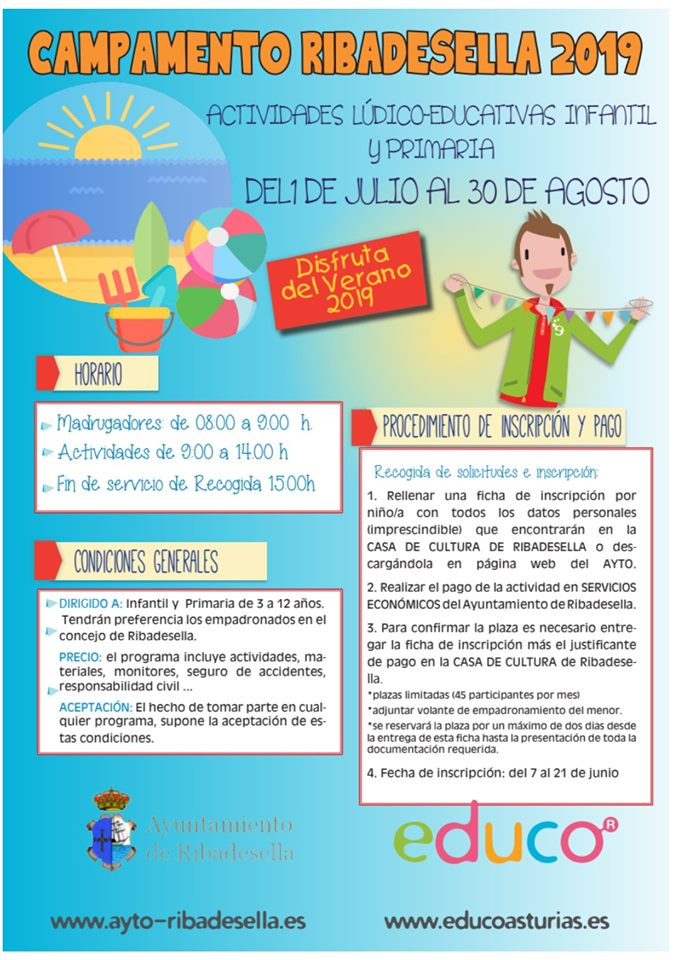 Campamento de verano 2019 - Ribadesella (Asturias)