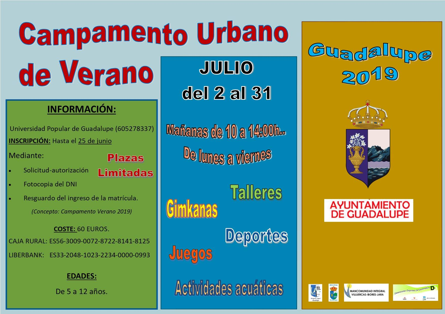 Campamento urbano de verano 2019 - Guadalupe (Cáceres)