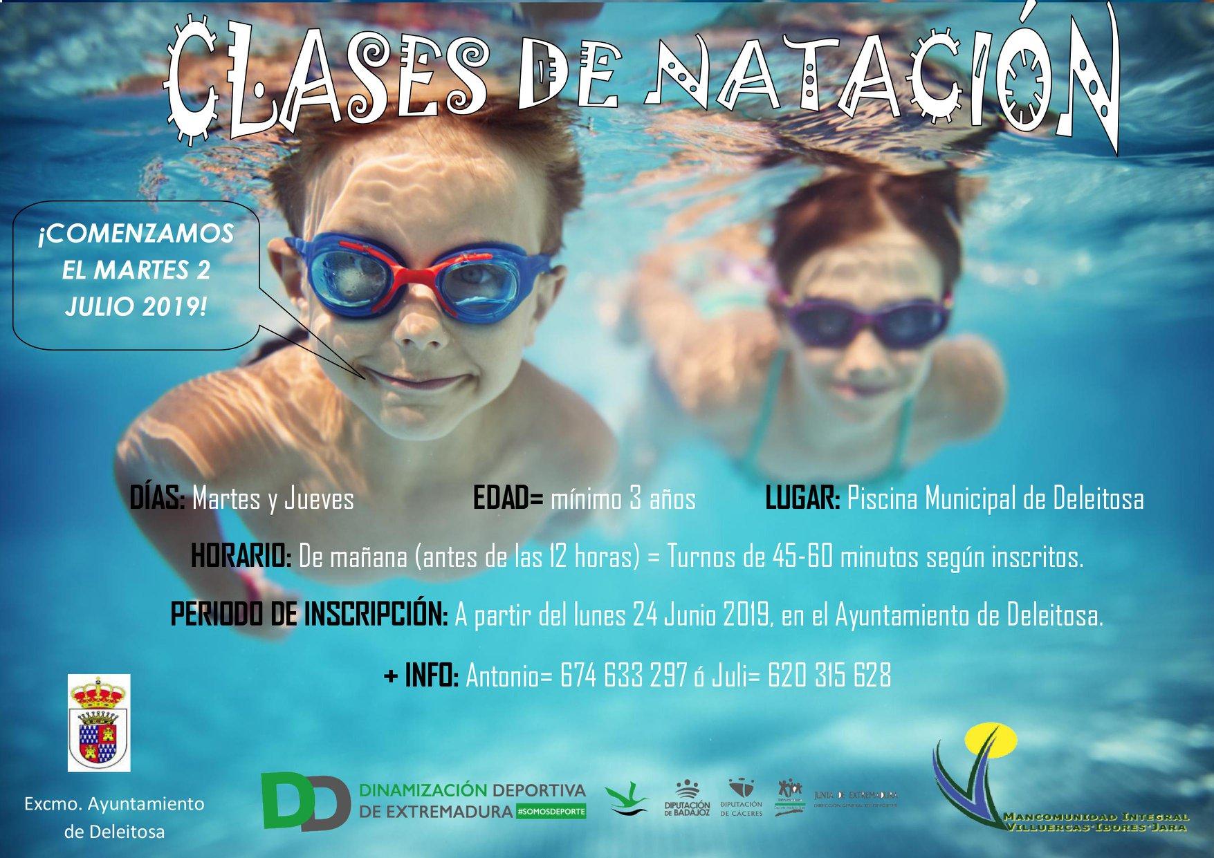Clases de natación 2019 - Deleitosa (Cáceres)