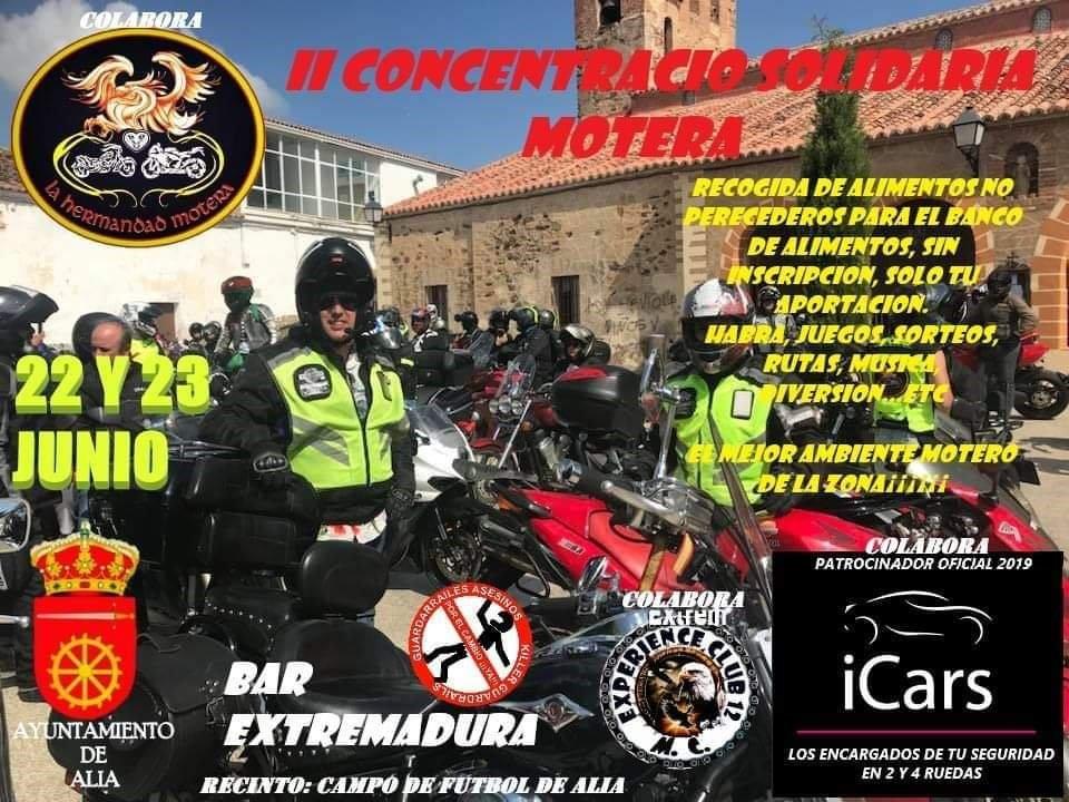 II Concentración solidaria motera - Alía (Cáceres)
