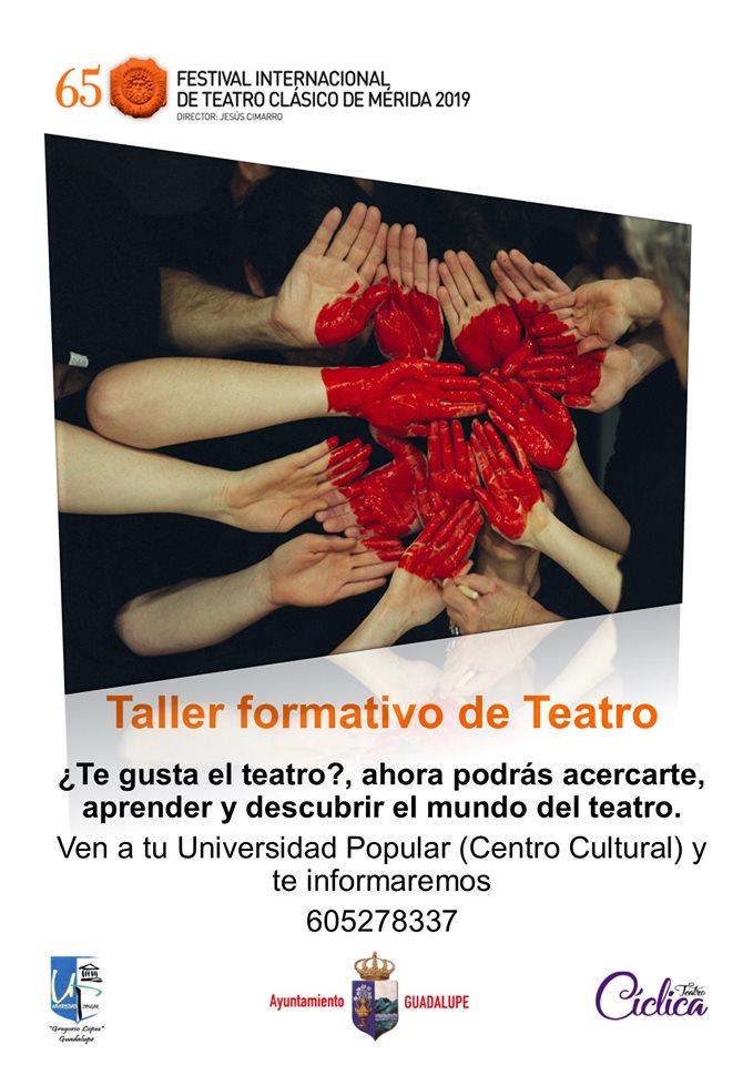 Taller formativo de teatro 2019 - Guadalupe (Cáceres)