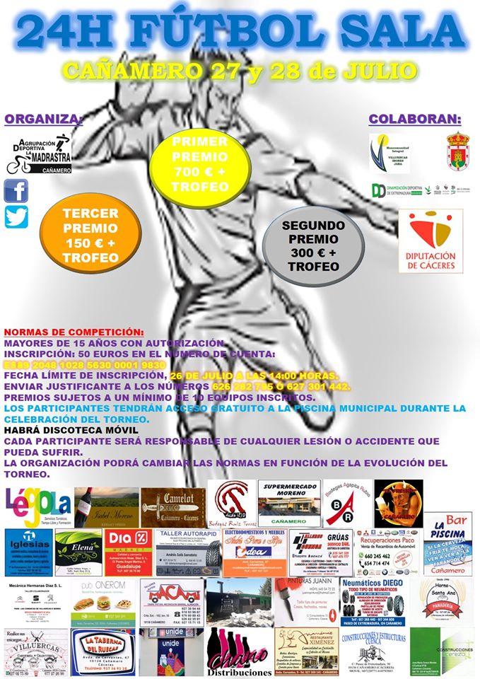24 Horas de fútbol sala 2019 - Cañamero (Cáceres)