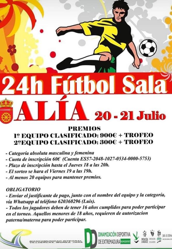 24 Horas de fútbol sala julio 2019 - Alía (Cáceres)
