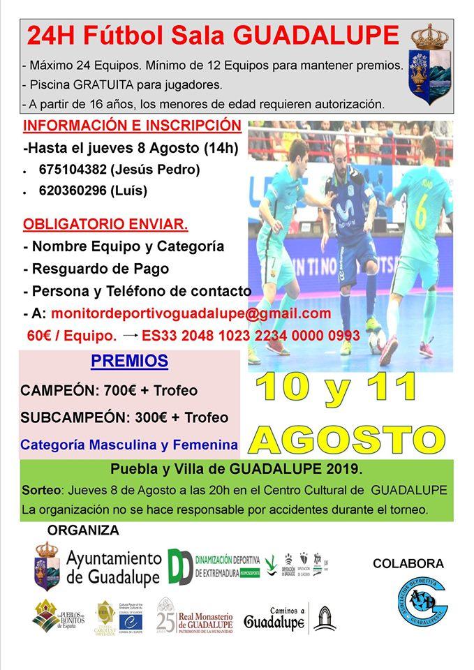 24 horas de fútbol sala 2019 - Guadalupe (Cáceres)