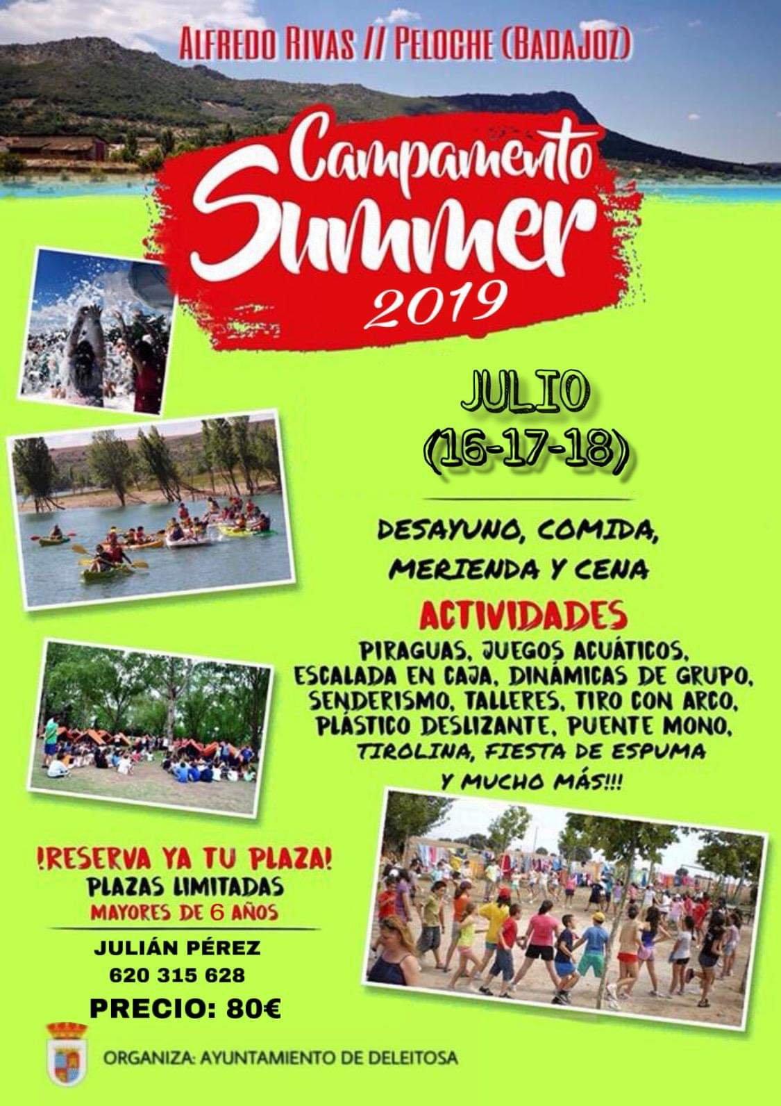 Campamento summer 2019 - Deleitosa (Cáceres)