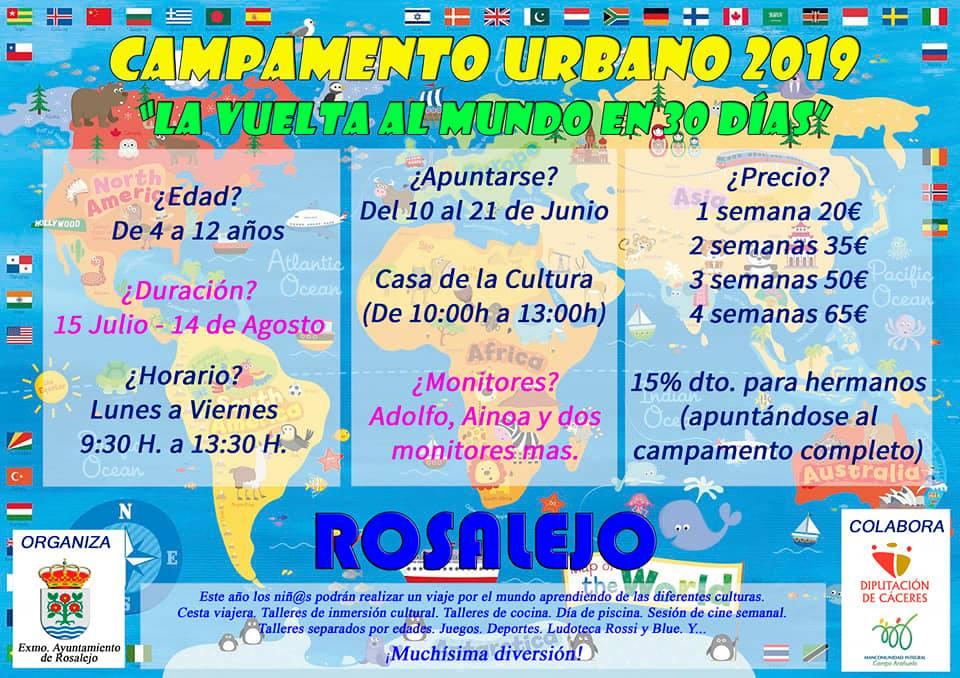 Campamento urbano 2019 - Rosalejo (Cáceres)