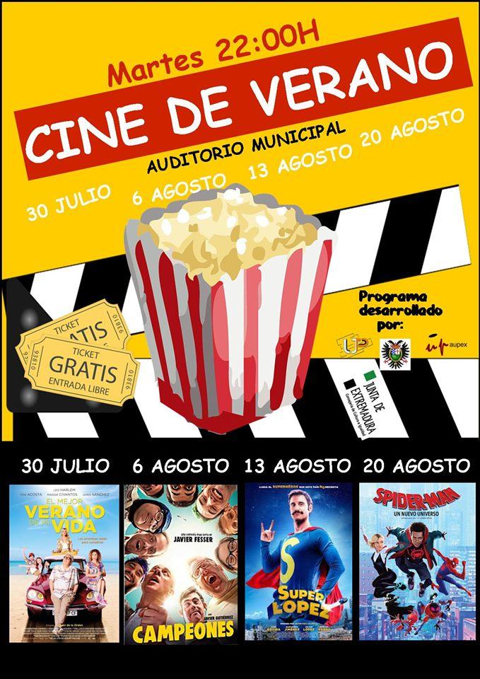 Cine de verano 2019 - Jarandilla de la Vera (Cáceres)