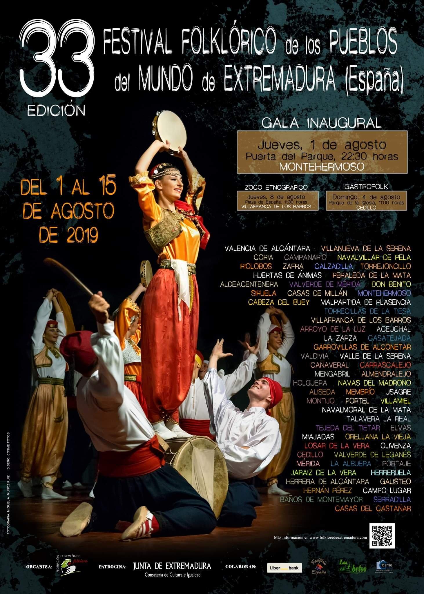 Festival folklórico de los pueblos del mundo de Extremadura 2019