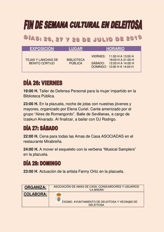 Fin de semana cultural julio 2019 - Deleitosa (Cáceres)