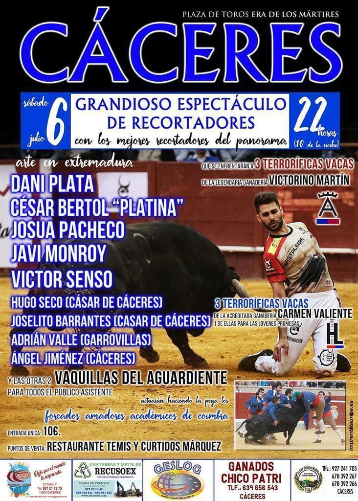Grandioso espectáculo de recortadores julio 2019 - Cáceres