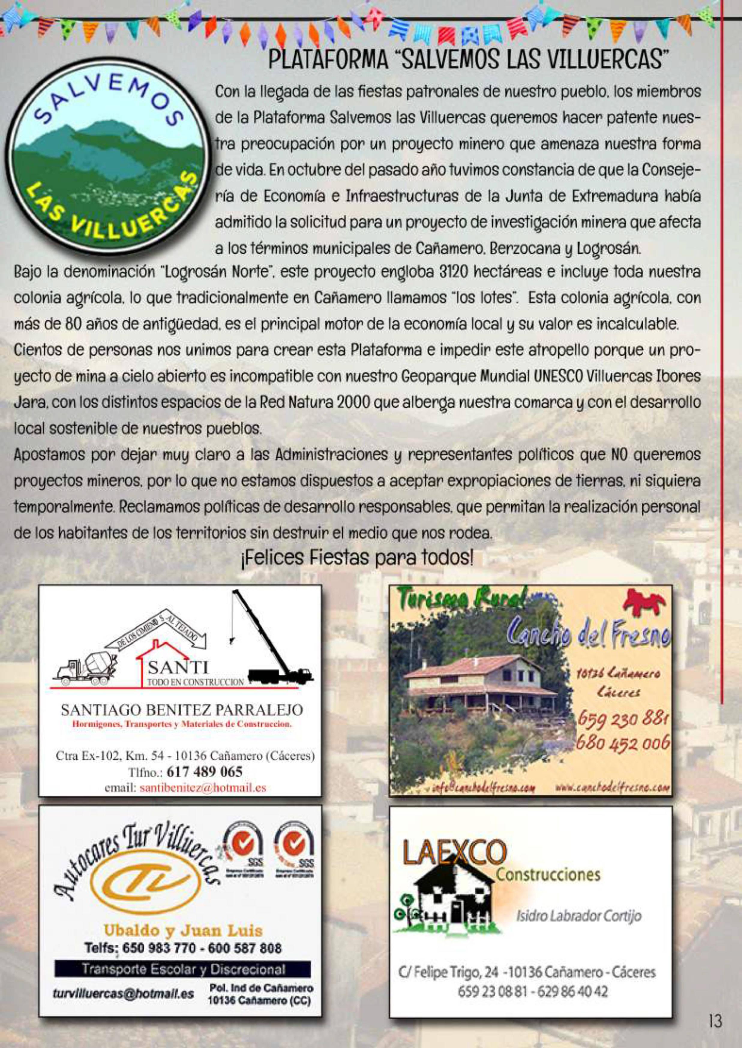 Programa de fiestas patronales 2019 - Cañamero (Cáceres) 10
