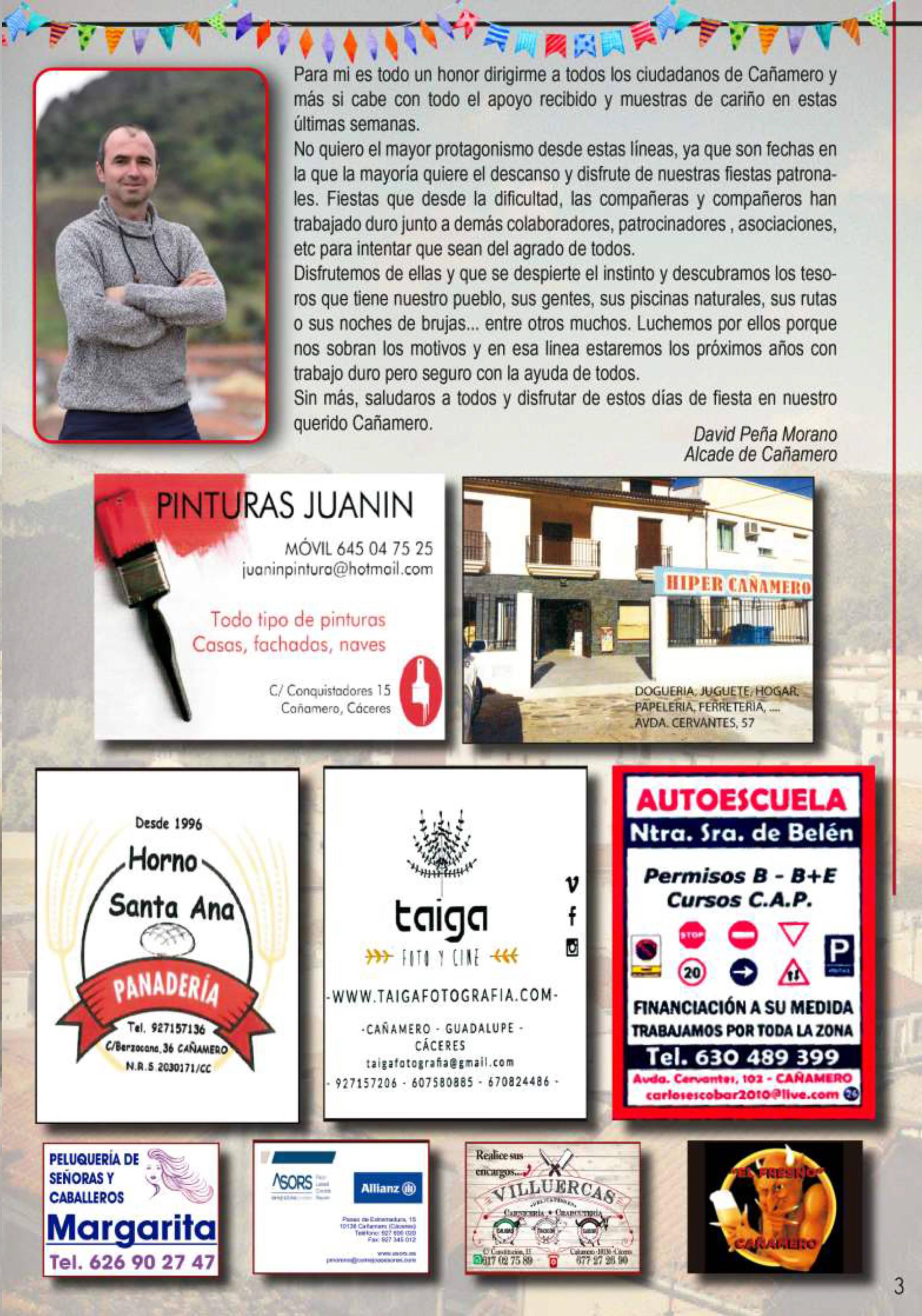 Programa de fiestas patronales 2019 - Cañamero (Cáceres) 3