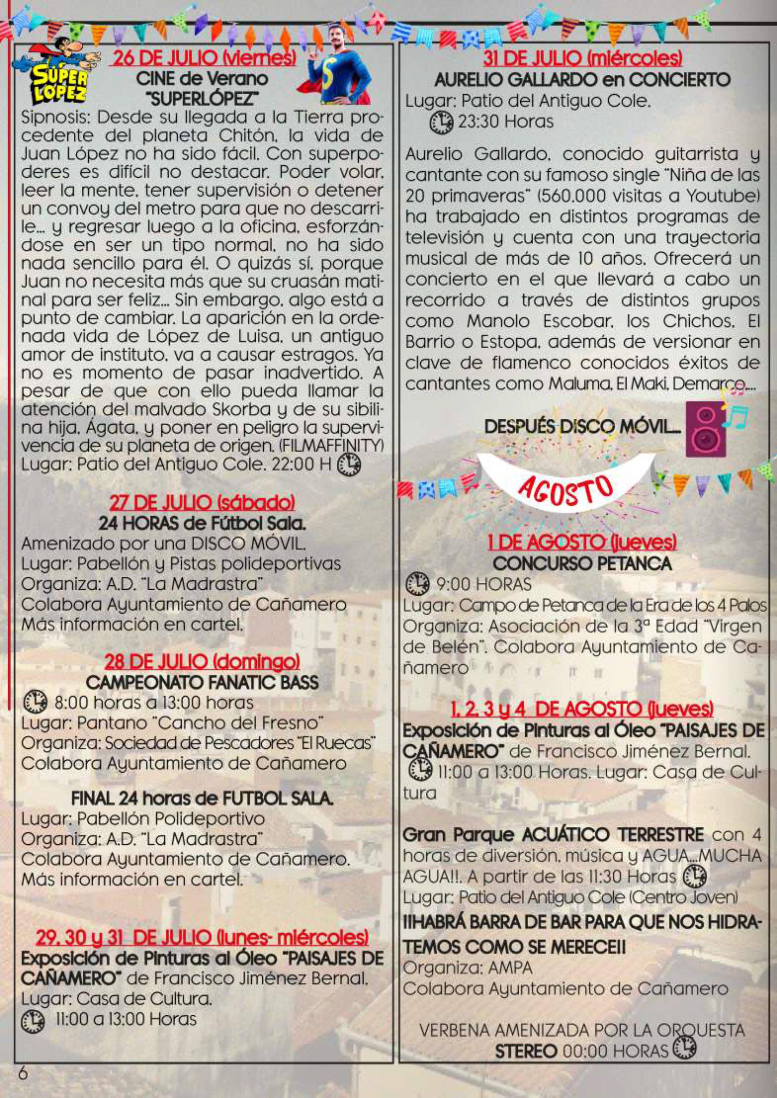 Programa de fiestas patronales 2019 - Cañamero (Cáceres) 4