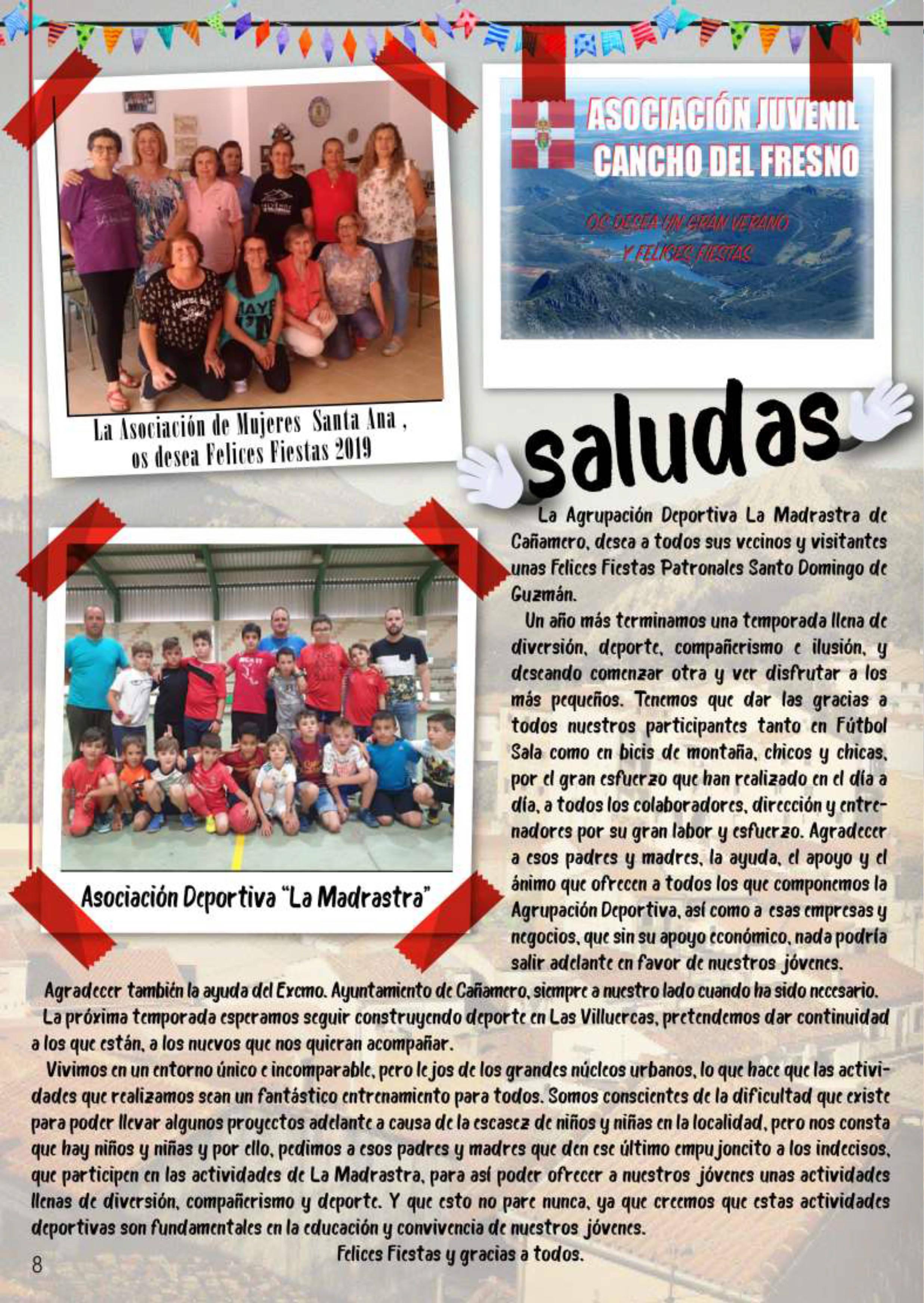 Programa de fiestas patronales 2019 - Cañamero (Cáceres) 6
