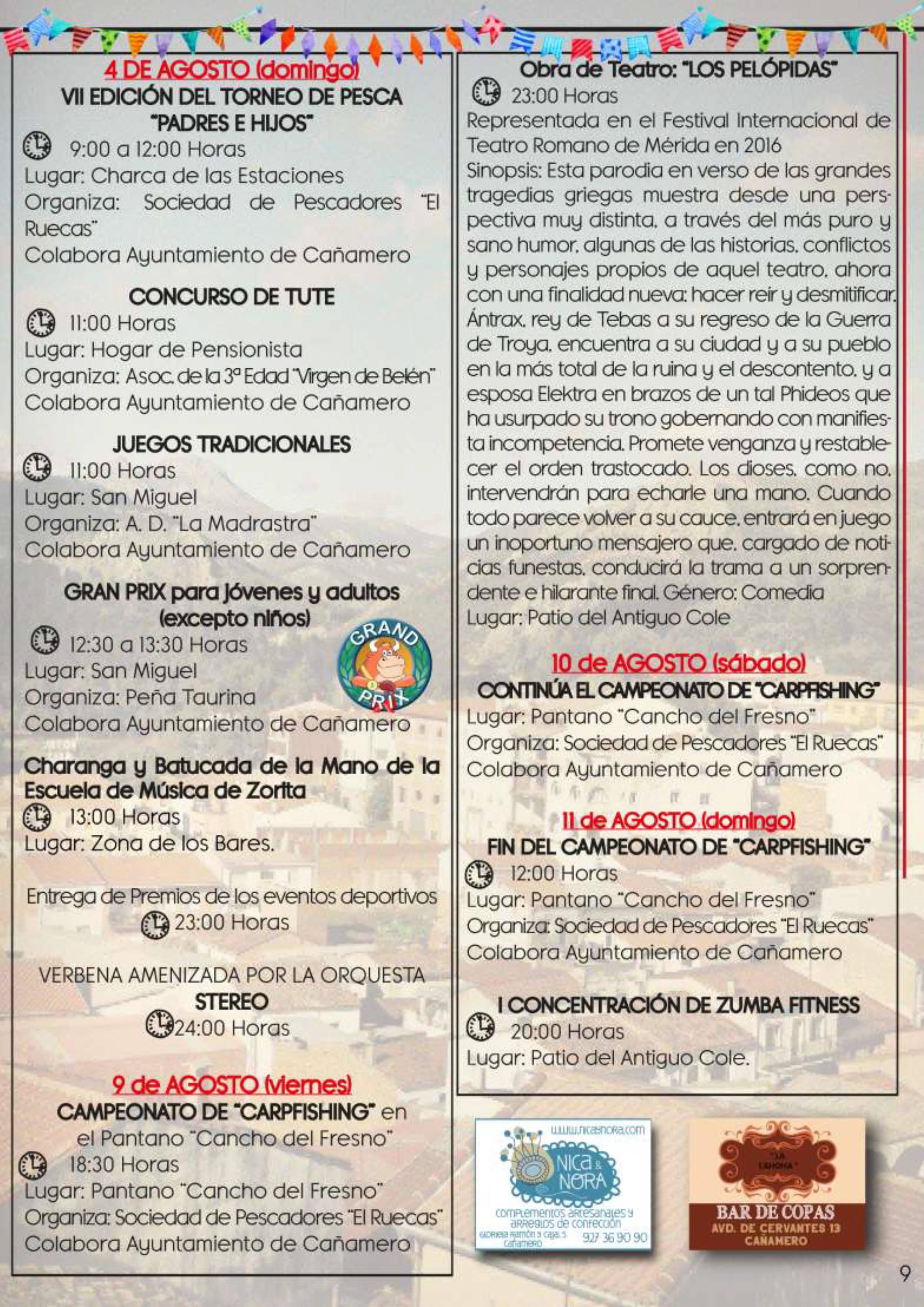 Programa de fiestas patronales 2019 - Cañamero (Cáceres) 7