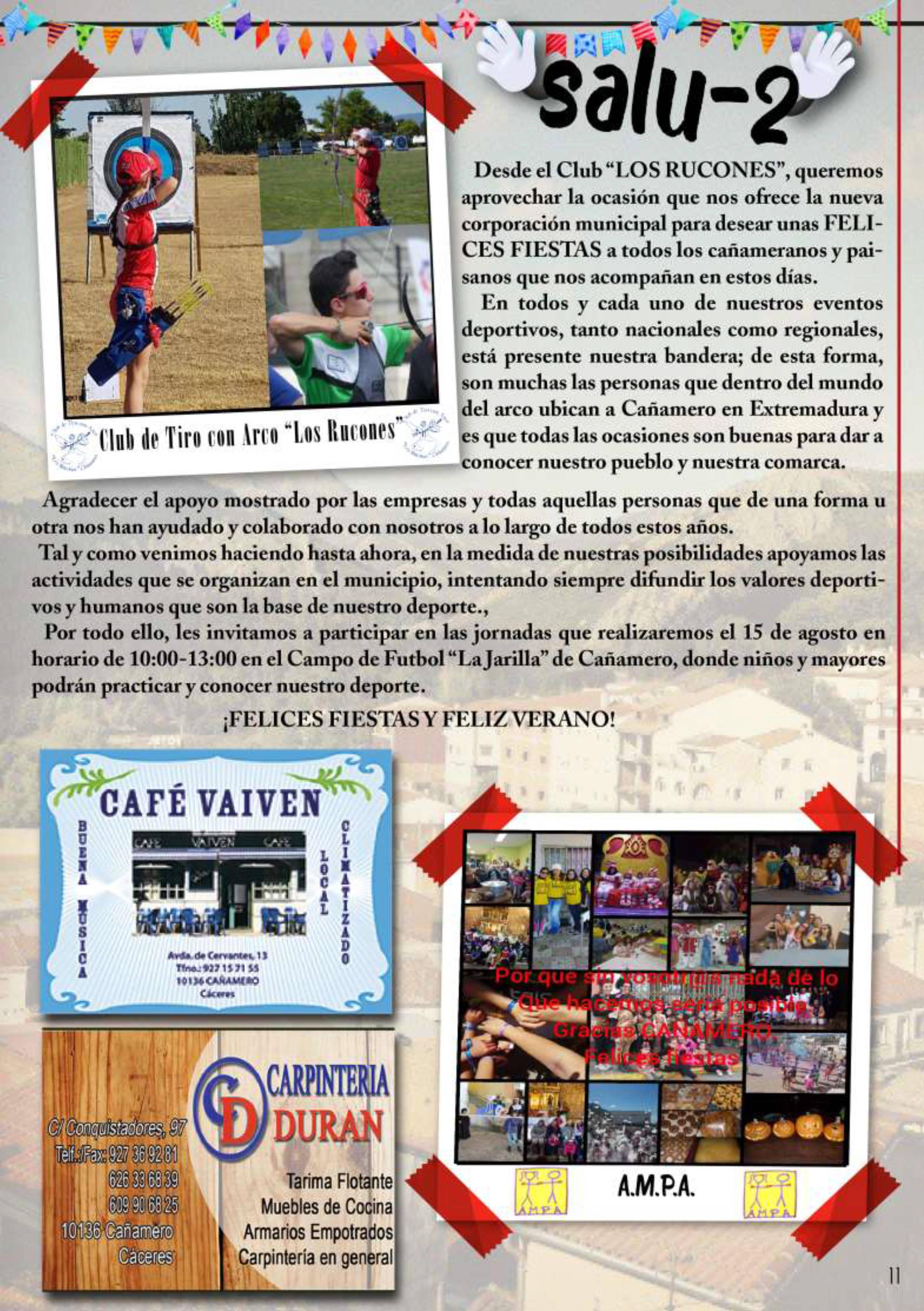 Programa de fiestas patronales 2019 - Cañamero (Cáceres) 9