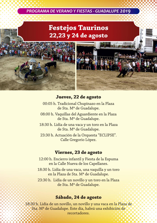 Programa de verano y fiestas 2019 - Guadalupe (Cáceres) 11