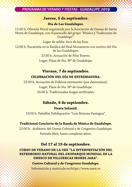 Programa de verano y fiestas 2019 - Guadalupe (Cáceres) 13
