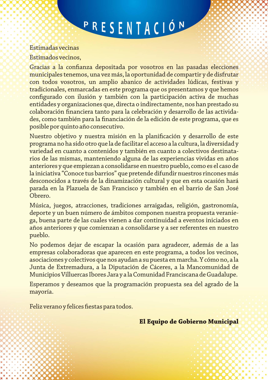 Programa de verano y fiestas 2019 - Guadalupe (Cáceres) 3