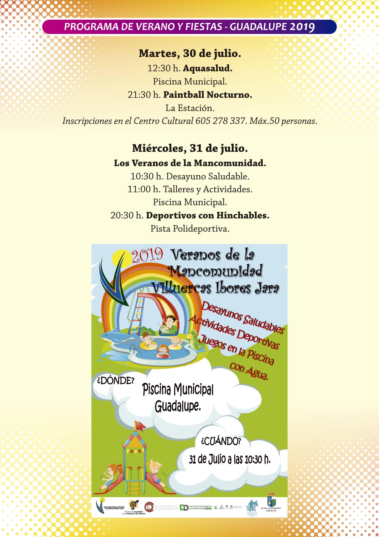 Programa de verano y fiestas 2019 - Guadalupe (Cáceres) 6
