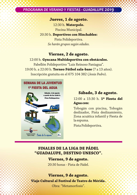 Programa de verano y fiestas 2019 - Guadalupe (Cáceres) 7