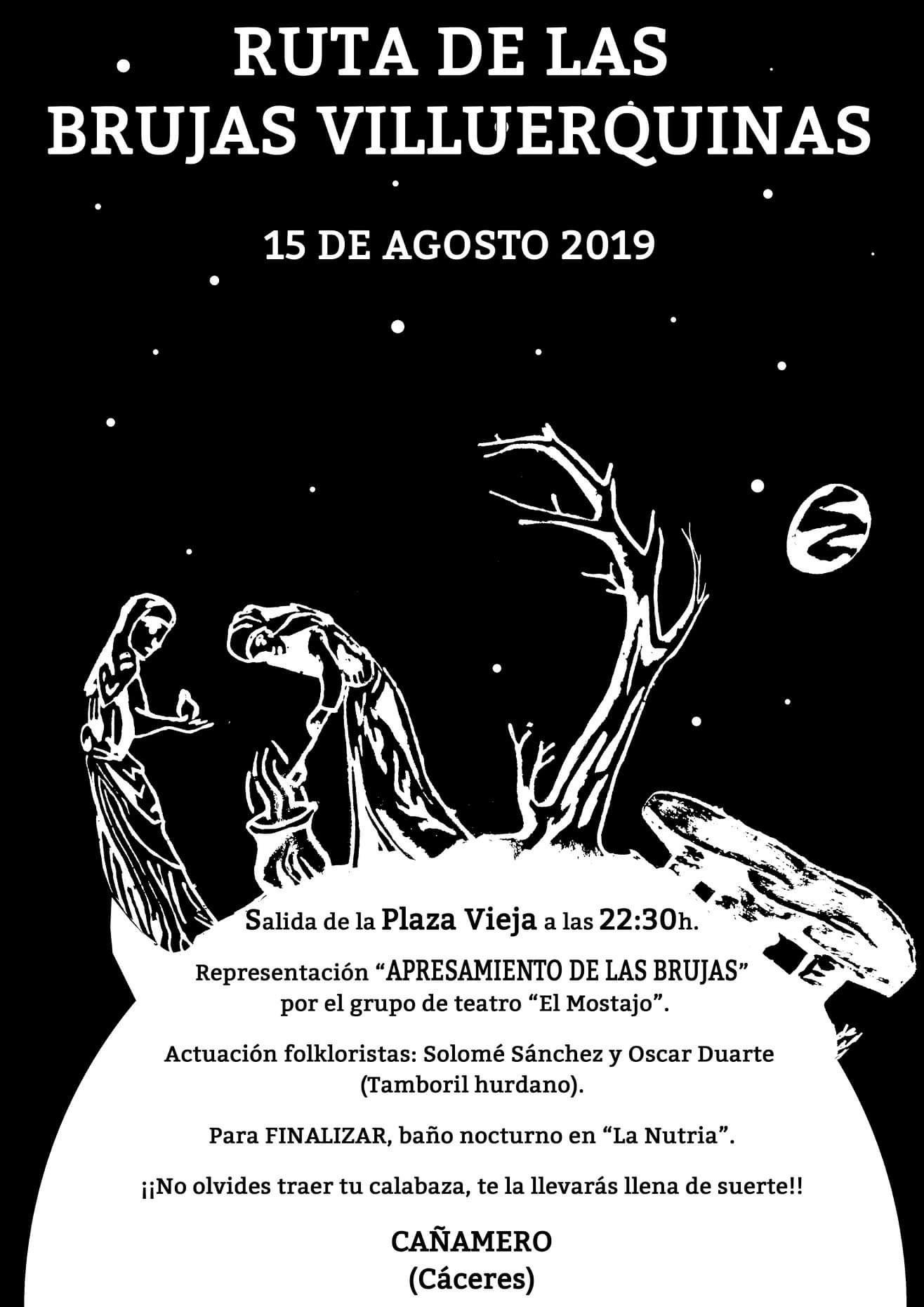 Ruta de las Brujas Villuerquinas 2019 - Cañamero (Cáceres)