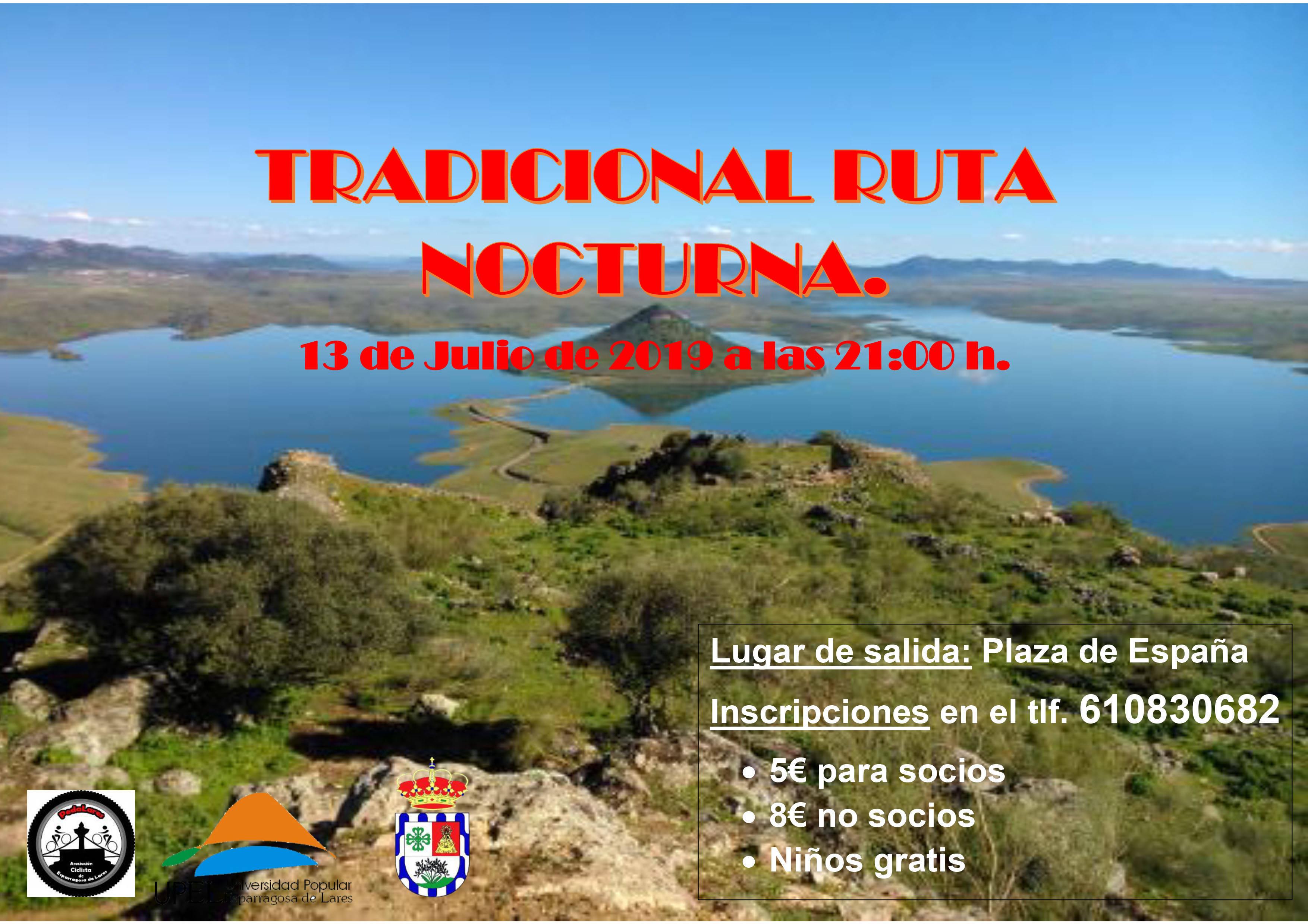 Tradicional ruta nocturna 2019 - Esparragosa de Lares (Badajoz)