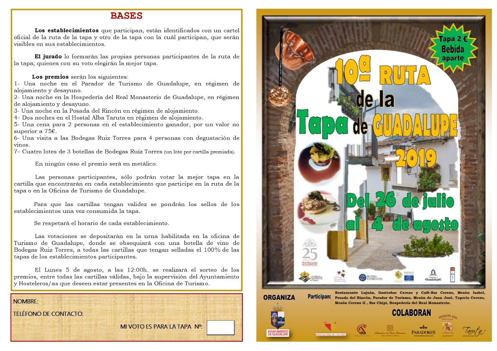X Ruta de la tapa - Guadalupe (Cáceres) 2