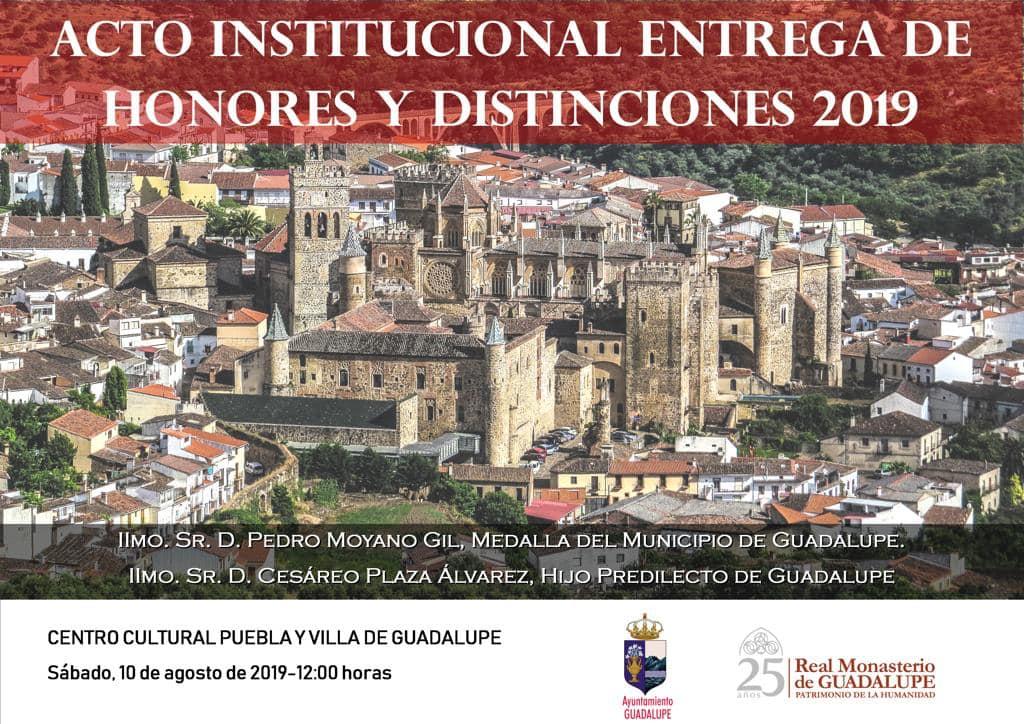 Entrega de honores y distinciones 2019 - Guadalupe (Cáceres)