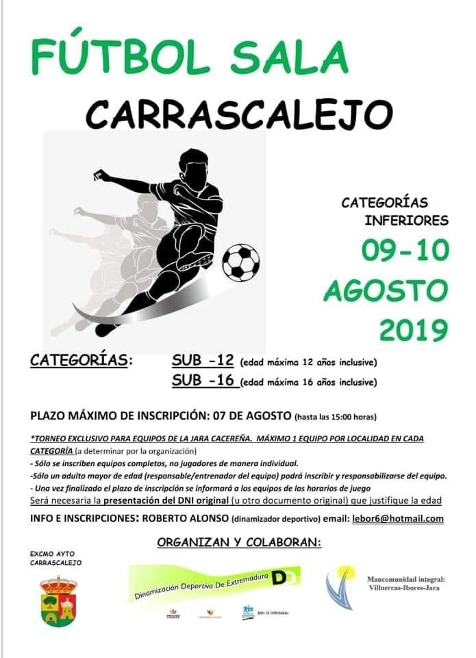 Fútbol sala agosto 2019 - Carrascalejo (Cáceres)