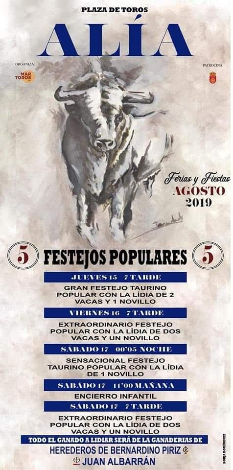 Festejos populares 2019 - Alía (Cáceres)