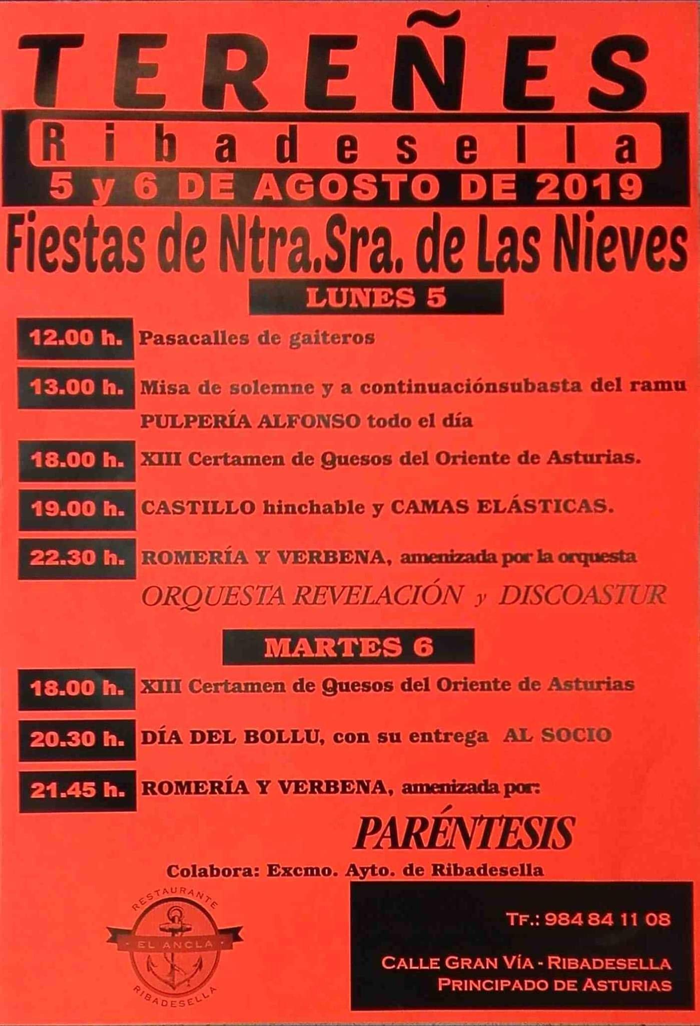 Fiestas de Nuestra Señora de Las Nieves 2019 - Tereñes (Asturias)