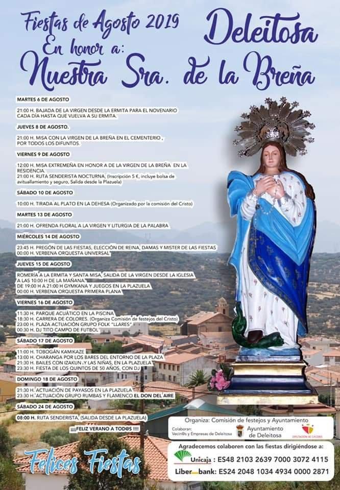 Fiestas de agosto 2019 - Deleitosa (Cáceres)
